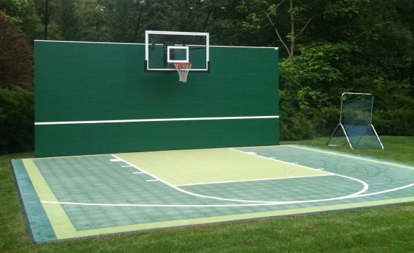 Residential Basketball Court & Tennis Backboard - California Surfacing